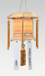 ひのき製 六角切子灯籠