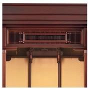 岸佛光堂オリジナル仏壇「仏光」板扉一枚型 紫壇系 ー 欄間