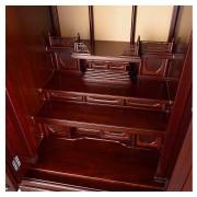 岸佛光堂オリジナル仏壇「仏光」板扉一枚型 紫壇系 ー お位牌スペース