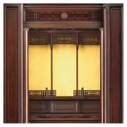 岸佛光堂オリジナル仏壇「光山」板扉一枚型 ー 欄間