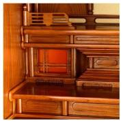 岸佛光堂オリジナル仏壇「秀光」板扉一枚型 ー 白檀塗り